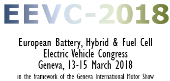 EEVC 2018, European Battery Hybrid & Fuel Cell Electric Vehicle Congress