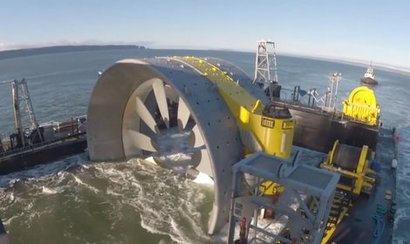 Nova Scotia's first grid-connected tidal turbine deployed at Fundy test site