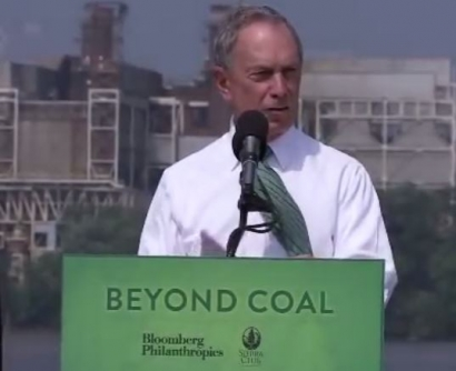 Michael Bloomberg Pledges $64 Million for Anti-Coal, Pro-Renewables Initiatives