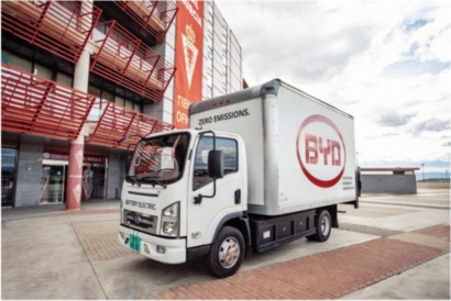 BYD Pure Electric Trucks Target Europe