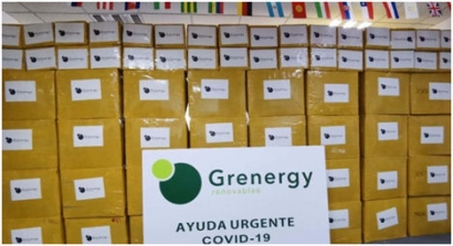 Grenergy donates 55,000 pieces of  Personal Protective Equipment to Madrid City Council