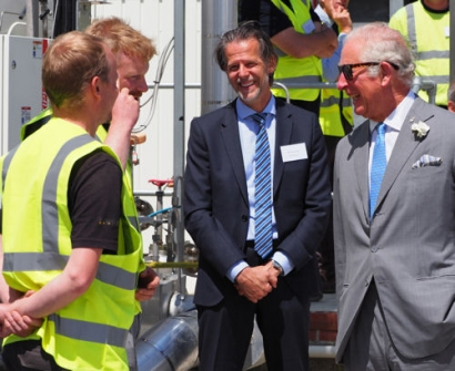 The Prince of Wales Opens Green CO₂ Capture Facility