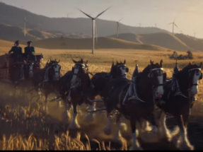 Budweiser Clydesdales Deliver a Wind-Powered Message on this Year's Super Bowl Stage