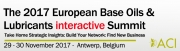 The 2017 European Base Oils and Lubricants interactive Summit
