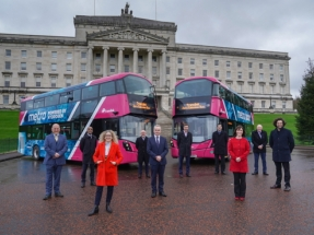 Three Hydrogen Buses Entering Service in NI Welcomed