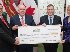 UPEI Receives $2 Million from Cavendish Farms to Support Sustainable Farming Solutions
