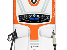 Tritium Brings its Fast Charger to Hanover Messe