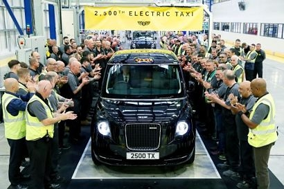 London Electric Vehicle Company (LEVC) celebrates production of 2,500th electric taxi