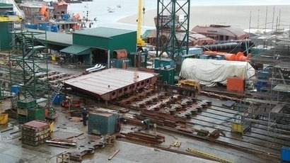 Spanish shipyard lays down keel for new wind farm service vessel