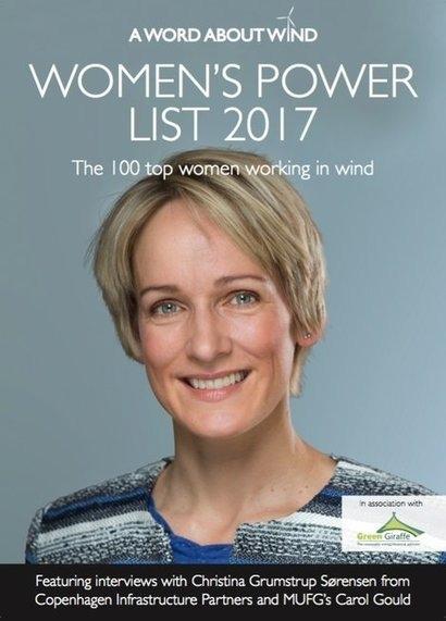 Women's Power List celebrates wind industry's leading female figures