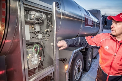 New electric motor for milk tankers reduces emissions
