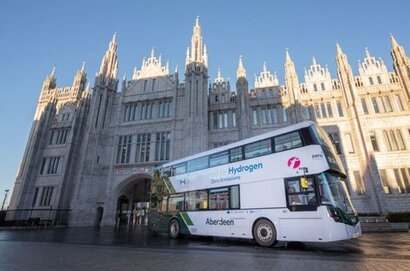 World's first hydrogen double deckers start their routes in Aberdeen
