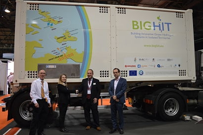 Calvera hands over hydrogen tube trailers to BIG HIT at All Energy 2018