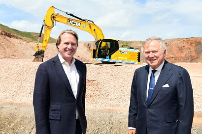Lord Bamford and son develop construction industry's first hydrogen-powered excavator