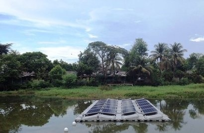 REC showcases floating solar PV installation in Indonesia