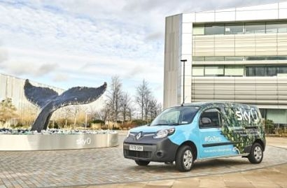 Sky takes delivery of eleven 100% electric Renault Kangoo Z.E. vans