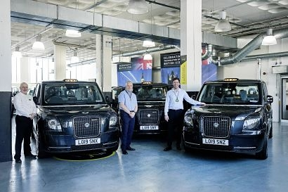 LEVC's elite cabbie test drivers take delivery of their own electric taxis
