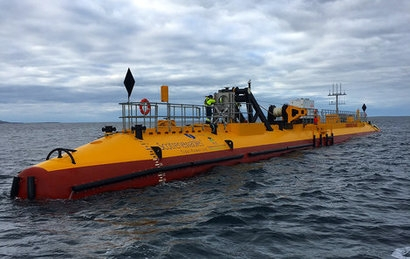 Scotrenewables Tidal Power SR2000 floating tidal turbine generates 116 MWh in less than a week of continuous generation