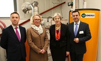 Prime Minister Theresa May inaugurates renewable energy training centre in Maidenhead