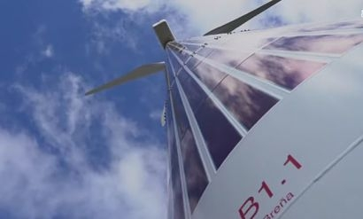 Acciona installs flexible organic photovoltaic modules in a wind turbine tower