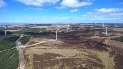 Vattenfall's wind farm in the north east of England now operational