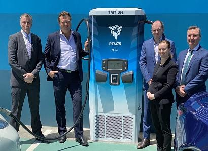 Tritium unveils world first scalable EV charging platform