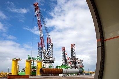 Foundation installation starts at Belgium's largest offshore wind farm