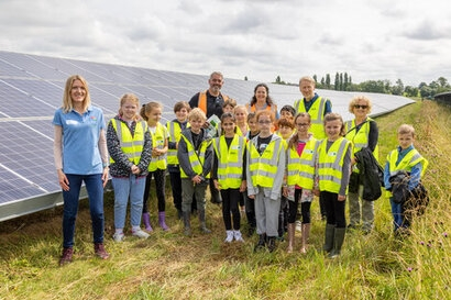 Solar farm visit powers up pupils for careers in renewable energy
