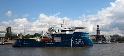 Siemens officially names its service operation vessel for Dutch Gemini project