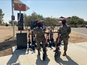 First-ever solar-powered e-scooter charging station launched at Edwards Air Force Base