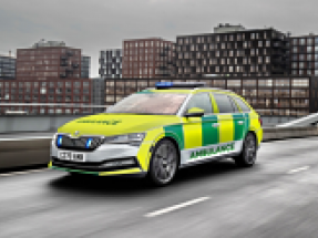 Skoda announces fleet of electrified vehicles for UK emergency services