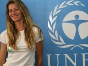 UNEP Goodwill Ambassador Gisele Bundchen talks renewables in Kenya