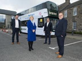 The world's first hydrogen-powered double decker bus arrives in Aberdeen