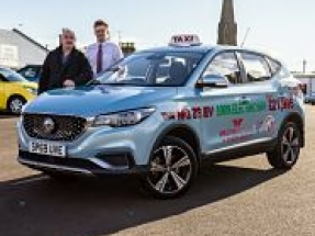 Tayport Taxis goes electric with new MG ZS EV