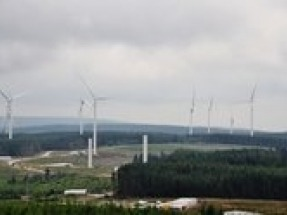 Wales largest onshore wind farm generates power for the first time
