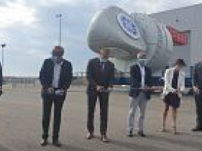 GE Renewable Energy, EDF Renewables and Enbridge celebrate production of first nacelle for French wind farm
