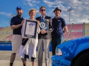Eric Lundgren's 'Phoenix' electric car, built from waste, achieves Guiness Book of World Records title