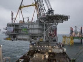 Belgian companies cooperate on installation of topside for offshore substation