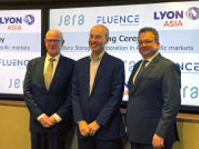 Lyon, JERA and Fluence announce collaboration agreement on battery storage in APAC