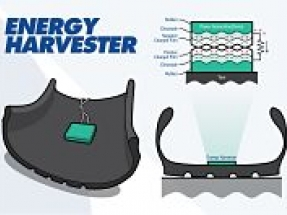 Energy harvester generates electricity from tires