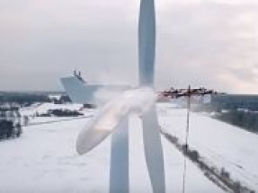 Aerones develops de-icing and cleaning drone for wind turbines