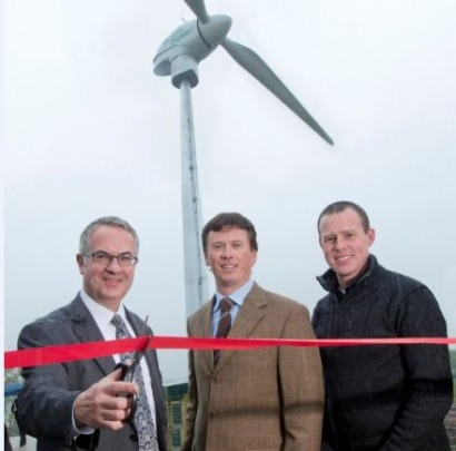Northern Ireland's environment minister opens wind turbine