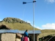 Small wind technology providing electricity for rural Peruvians