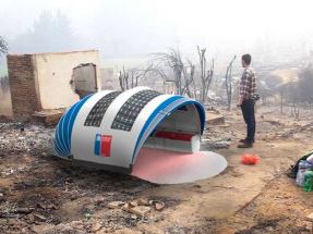 Diseñan una carpa para emergencias con paneles fotovoltaicos flexibles