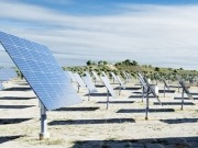 Solar trackers employed at Estonia's largest solar park