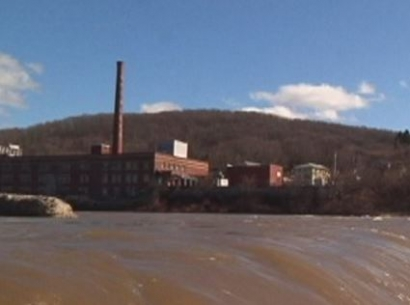 Rockbottom Dam site of proposed hydroelectric facility