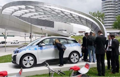 EIGHT unveils new solar charging station at BMW Welt