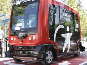 Santiago: Presentan el primer vehículo autónomo de transporte de pasajeros de Latinoamérica