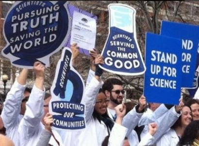 Scientists rally in Boston for climate science and against Trump policies