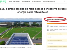 Brasil: Una petición por el derecho a producir la propia energía ya tiene más de 170 mil firmas (y subiendo)